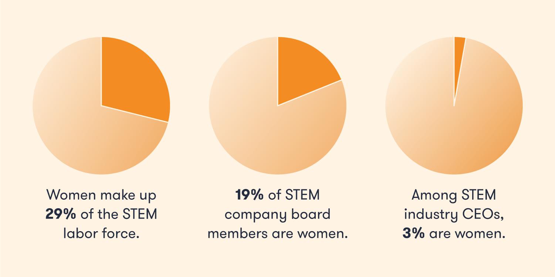 Assorted women in STEM stats