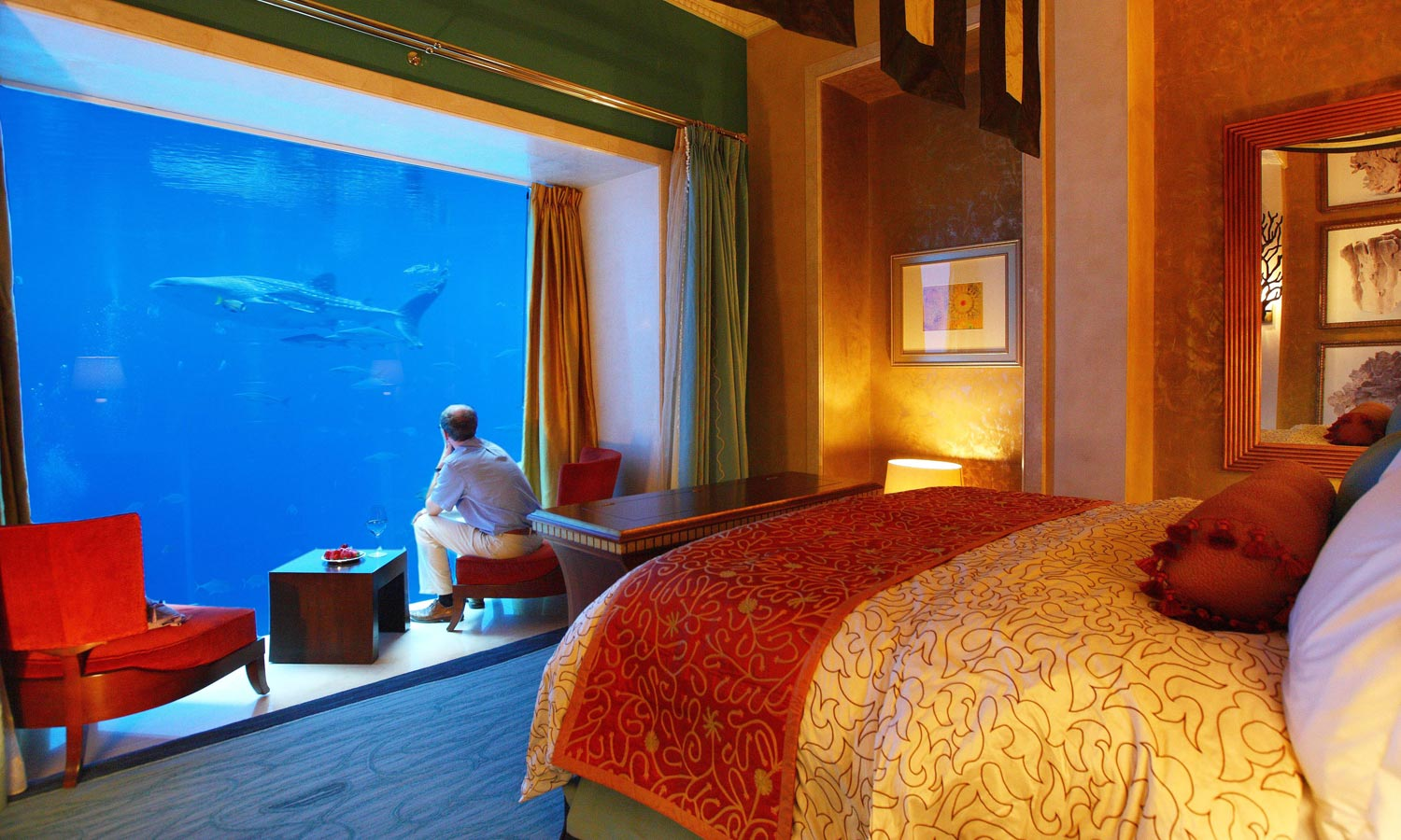 Underwater suite at the Atlantis Hotel.