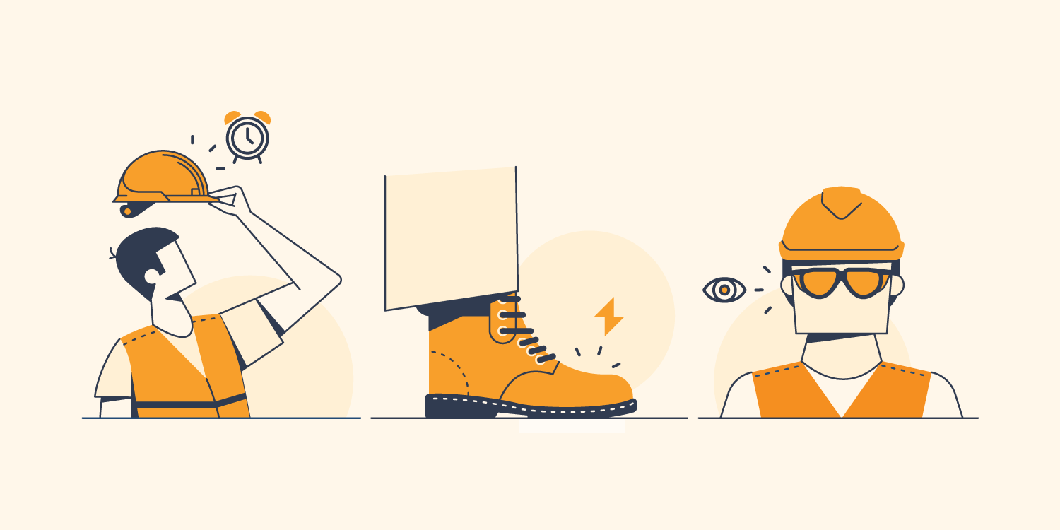 Wearable construction tech: a hardhat, boots, and glasses