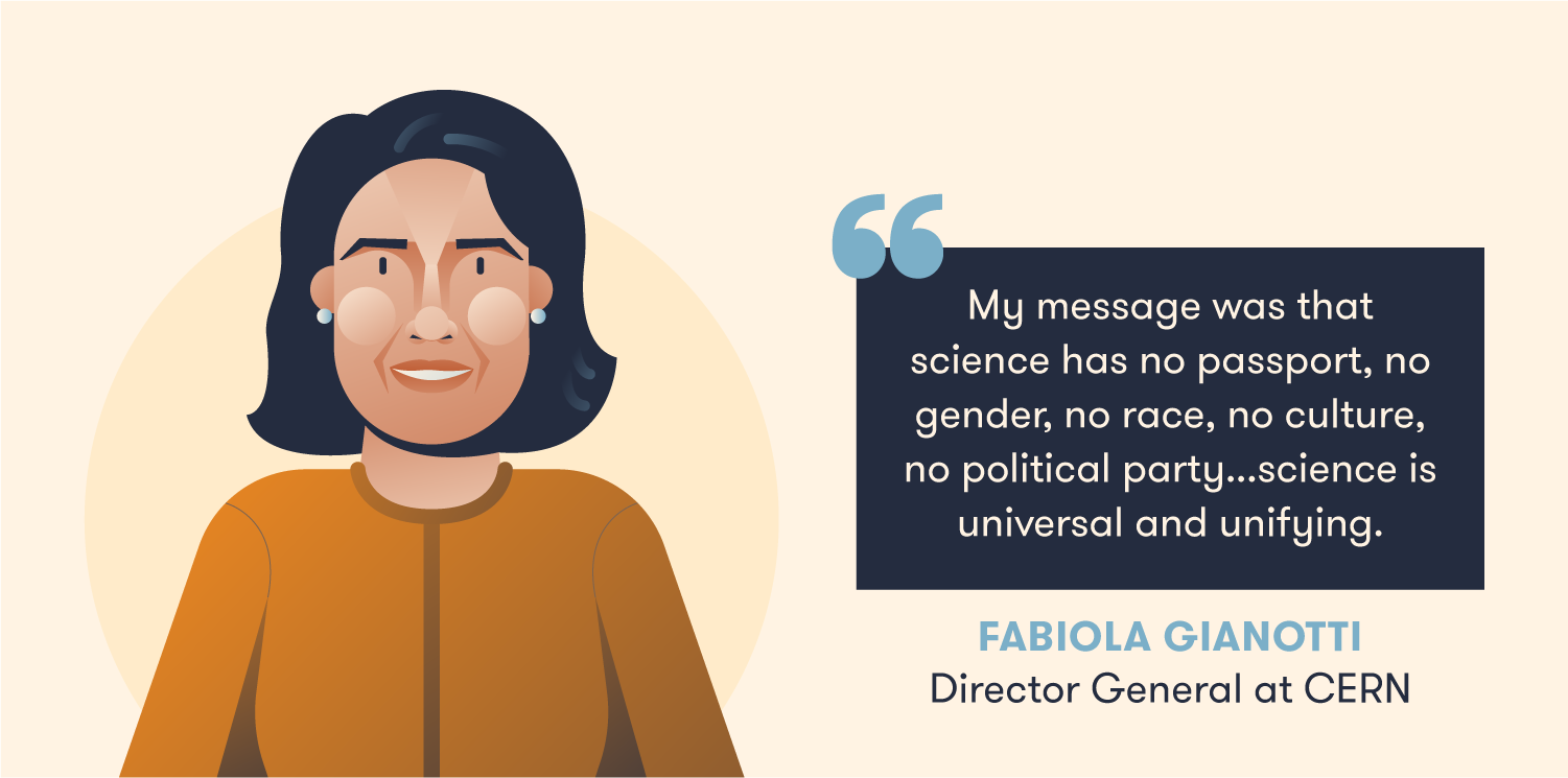 Quote from Fabiola Gianotti