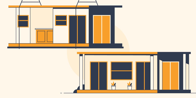 Modular home illustrations