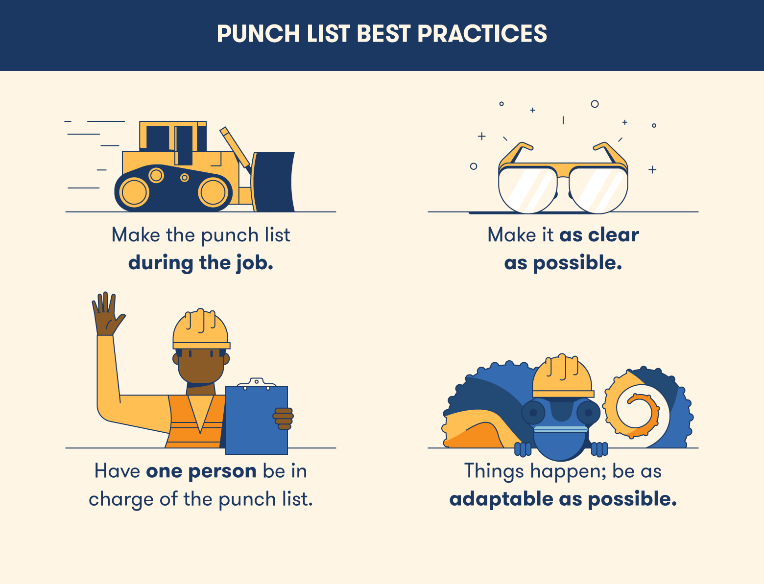 best practices for a punch list