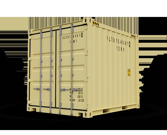 10 ft, Single-Door, Storage Container