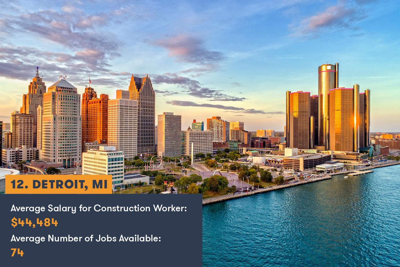 Detroit Construction Jobs and Salary