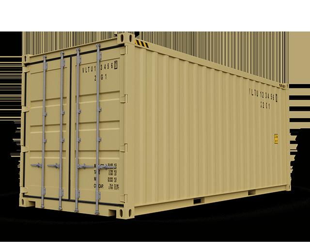 20 ft, Single-Door, Storage Container