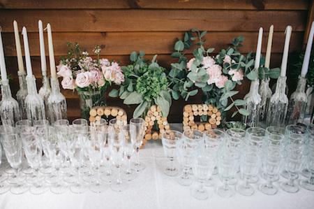 Wedding Reception Bar Arrangement