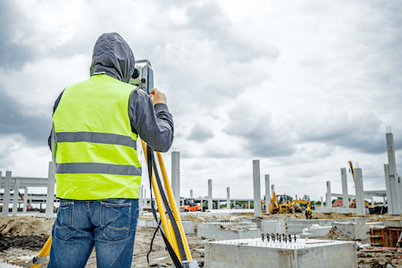 Surveying a site prior to a storm