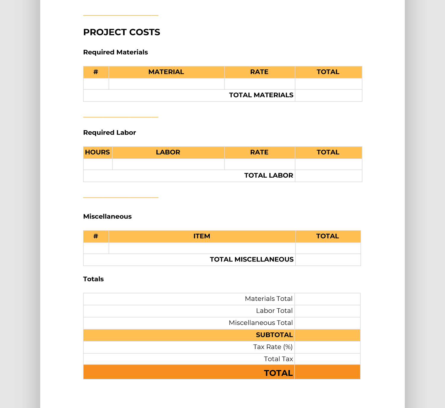 Easy-to-Use Construction Bid Template (Free Downloadable)  BigRentz Intended For Free Construction Proposal Template Word