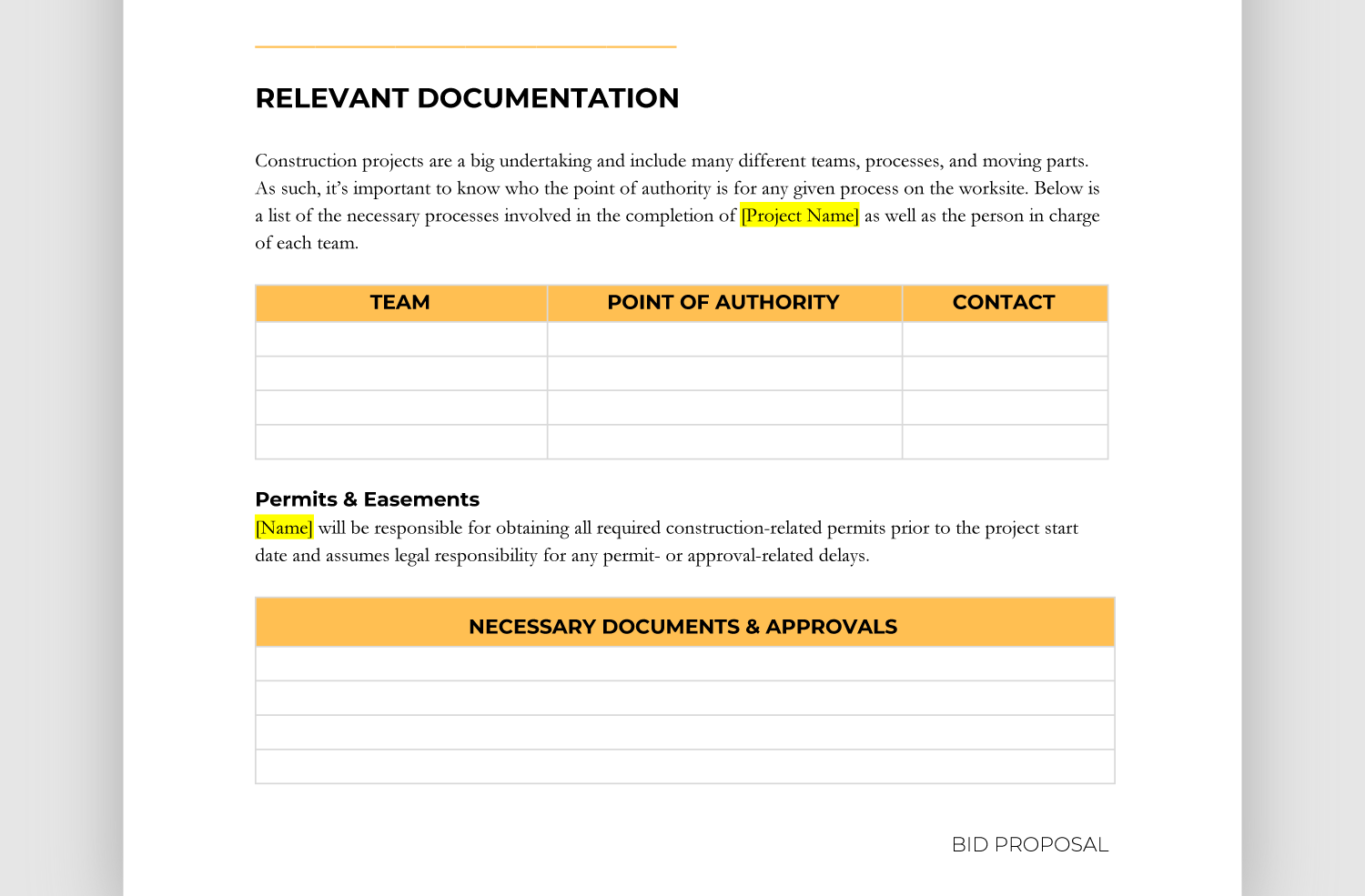 Easy-to-Use Construction Bid Template (Free Downloadable)  BigRentz With Free Construction Proposal Template Word