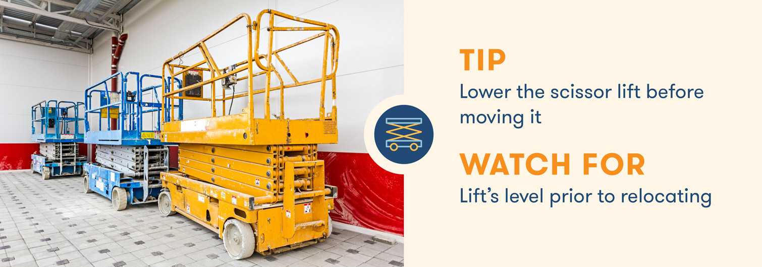 aerial lift safety lower scissor lift before moving it