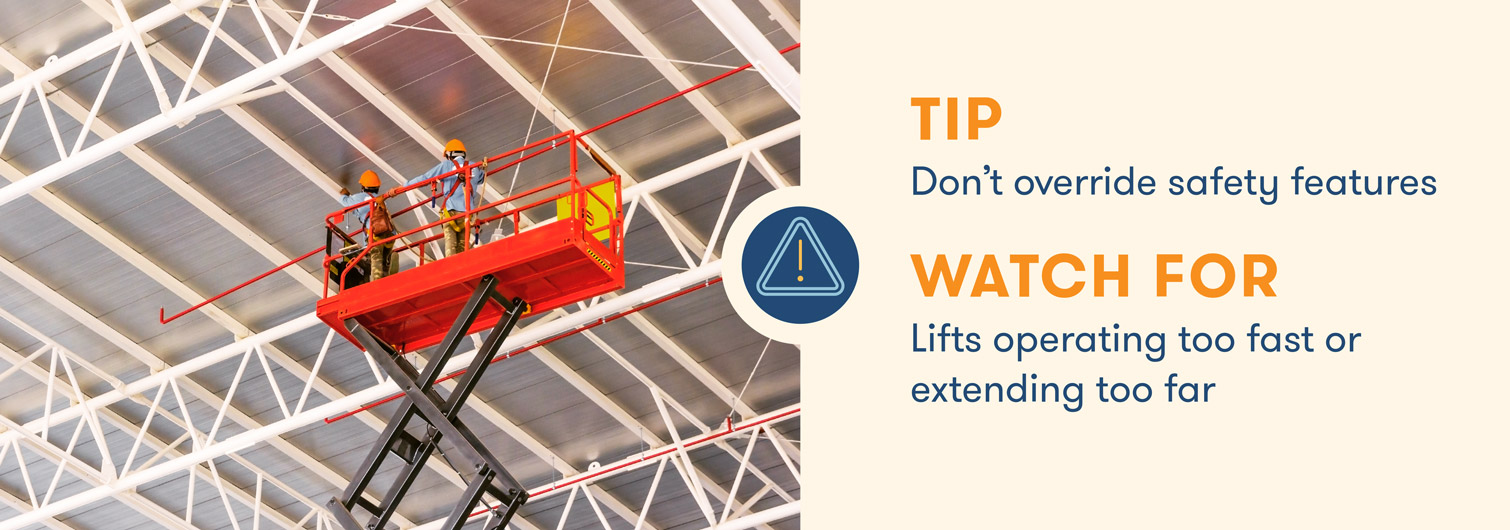 aerial lift safety dont override safety features
