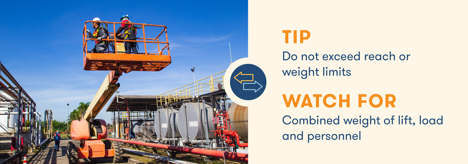aerial lift safety dont exceed capacity limits