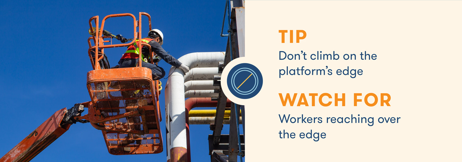 aerial lift safety dont climb on the platform