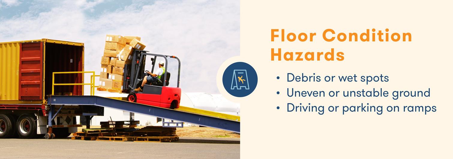 forklift hazards with floor conditions