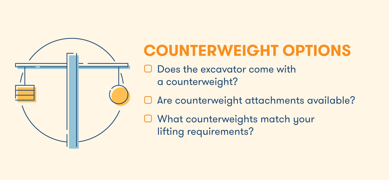 Counterweight options