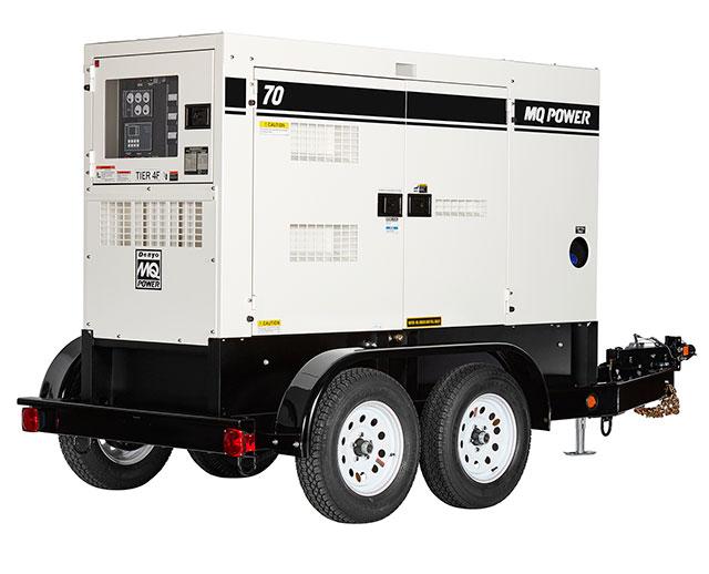 56 kW / 70 kVA Towable Diesel Generator