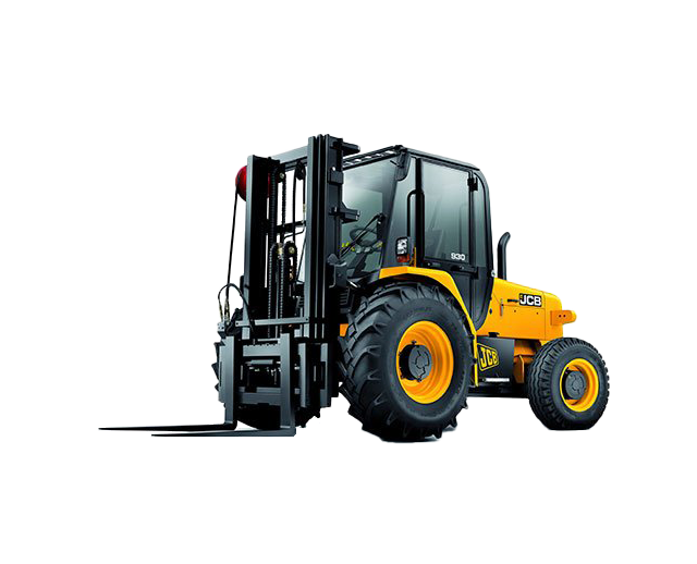 6,000 lbs, 21 ft, Straight-Mast, 4WD, Rough-Terrain Forklift