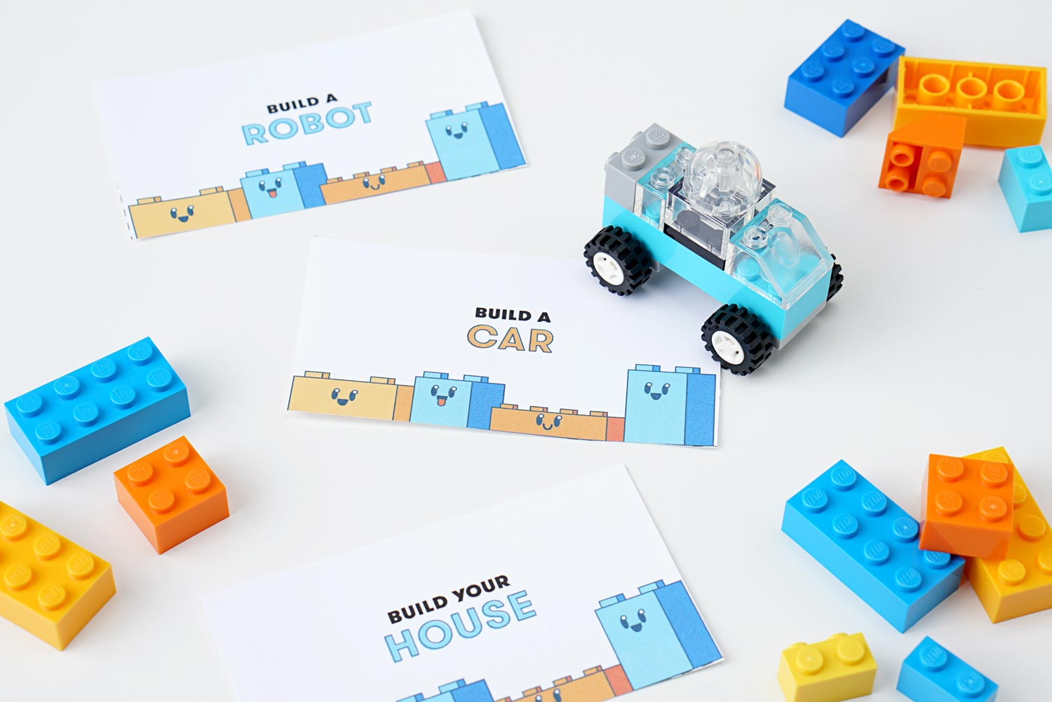 LEGO building challenge flashcards