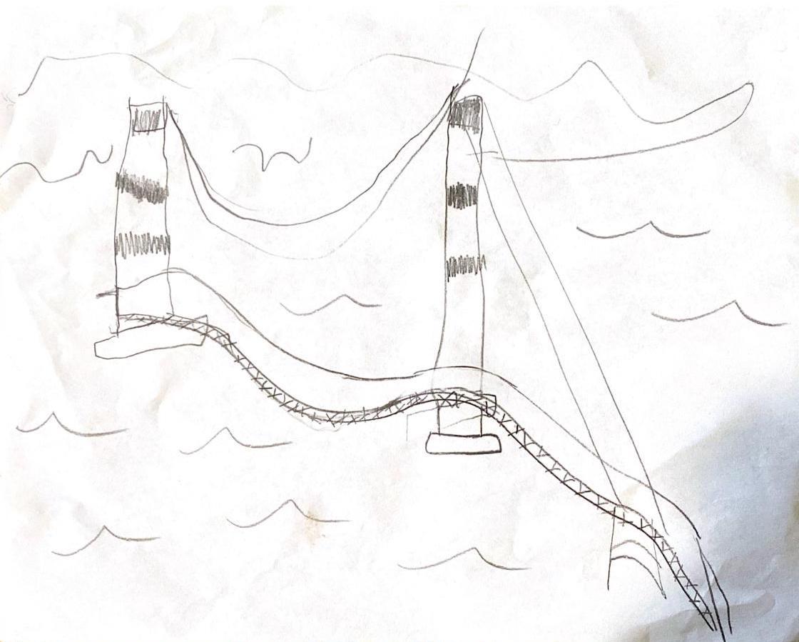 Golden Gate Bridge Kids Drawing 3