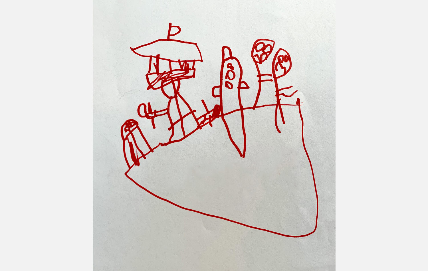 Kids Drawing Space Needle