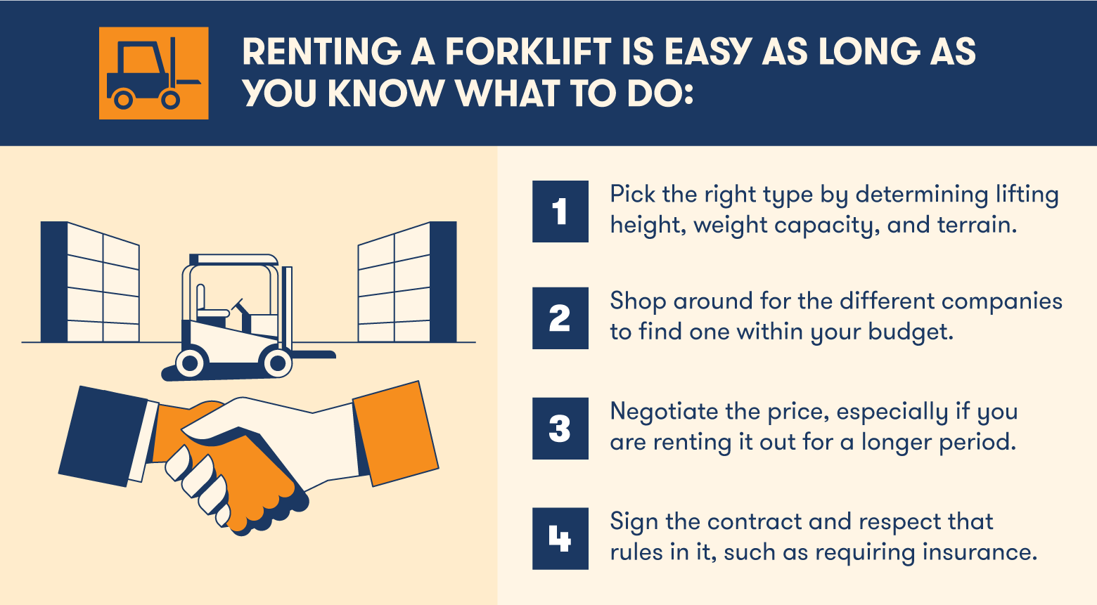 how to rent a forklift
