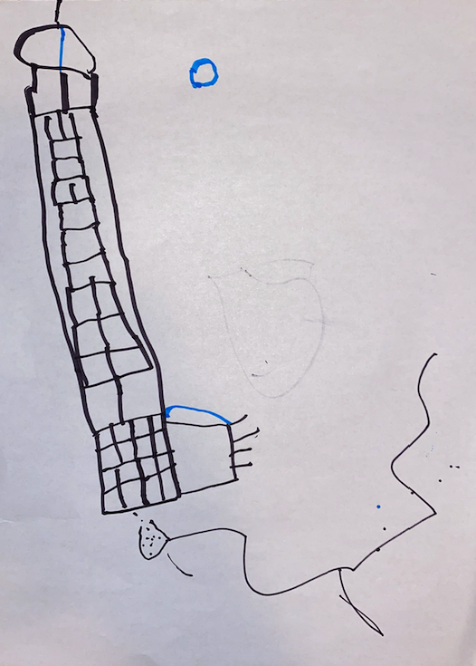 Freedom Tower Kids Drawing