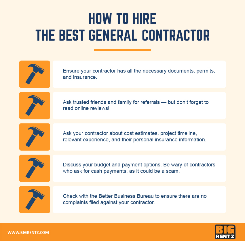 How to hire general contractor