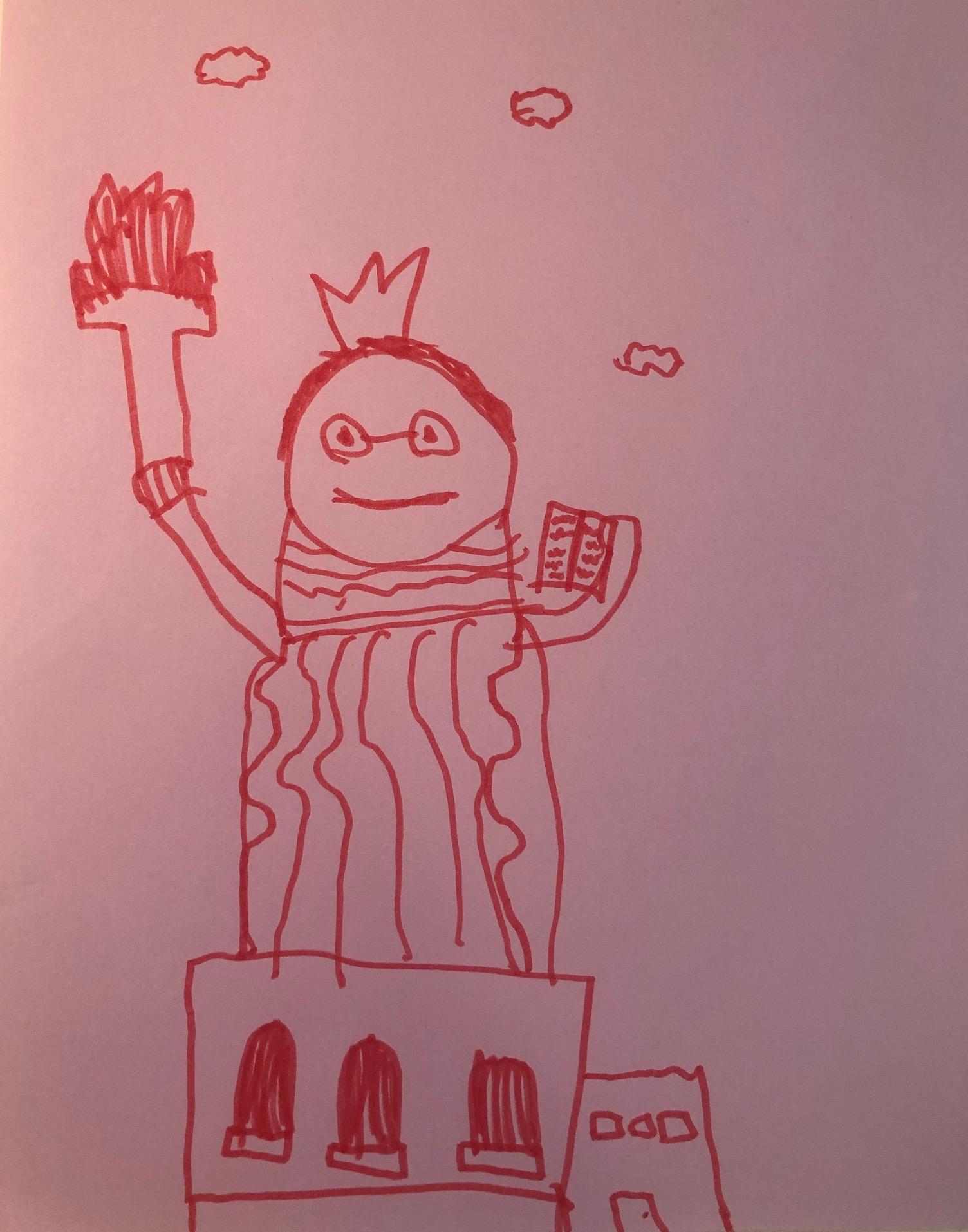 Statue of Liberty Kids Drawing 2