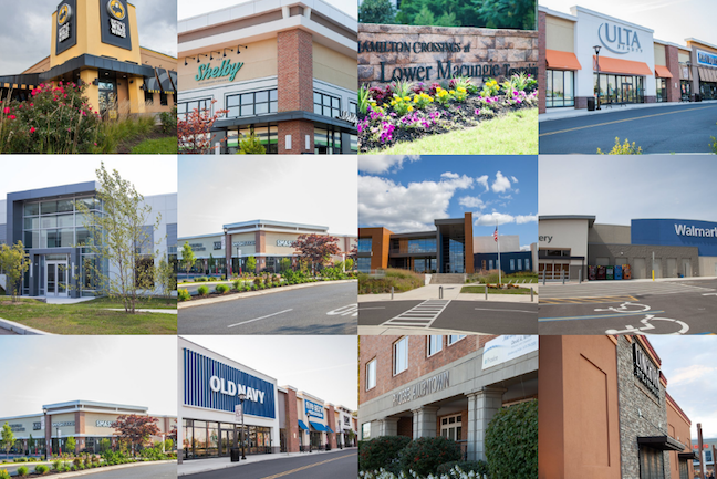 photo collage showcasing twelve different retail stores