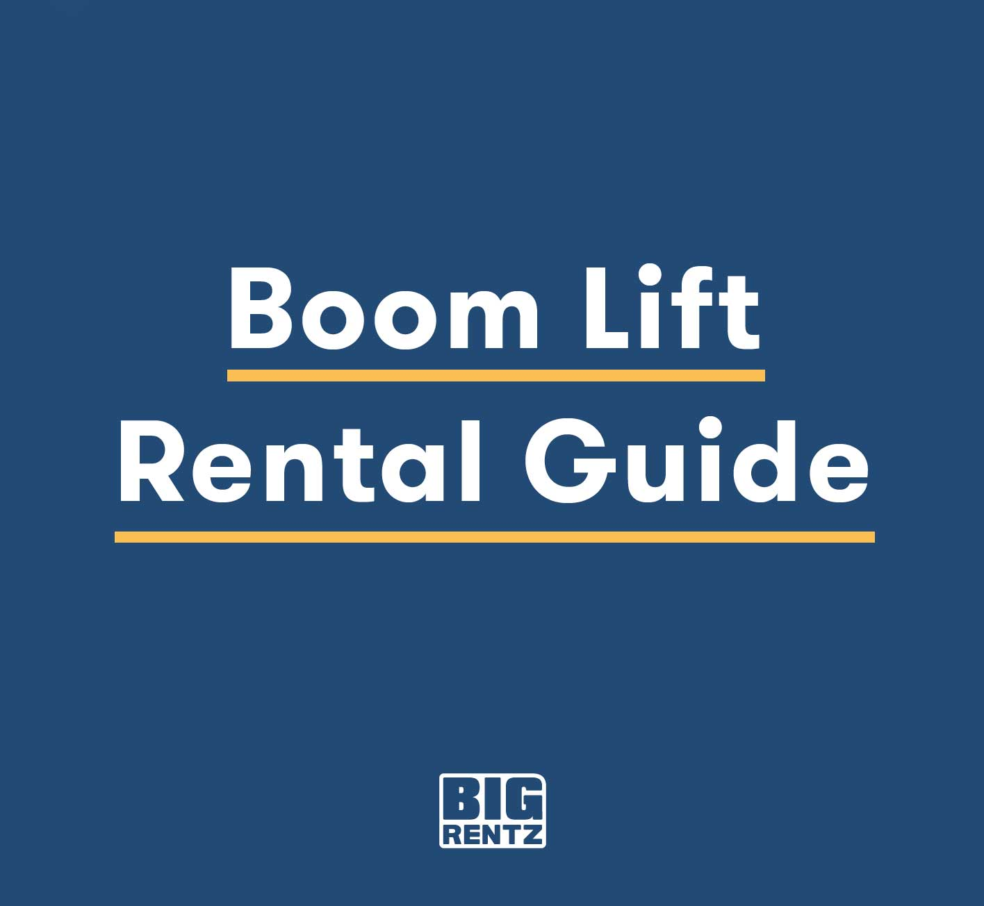 Boom Lift Rental Guide