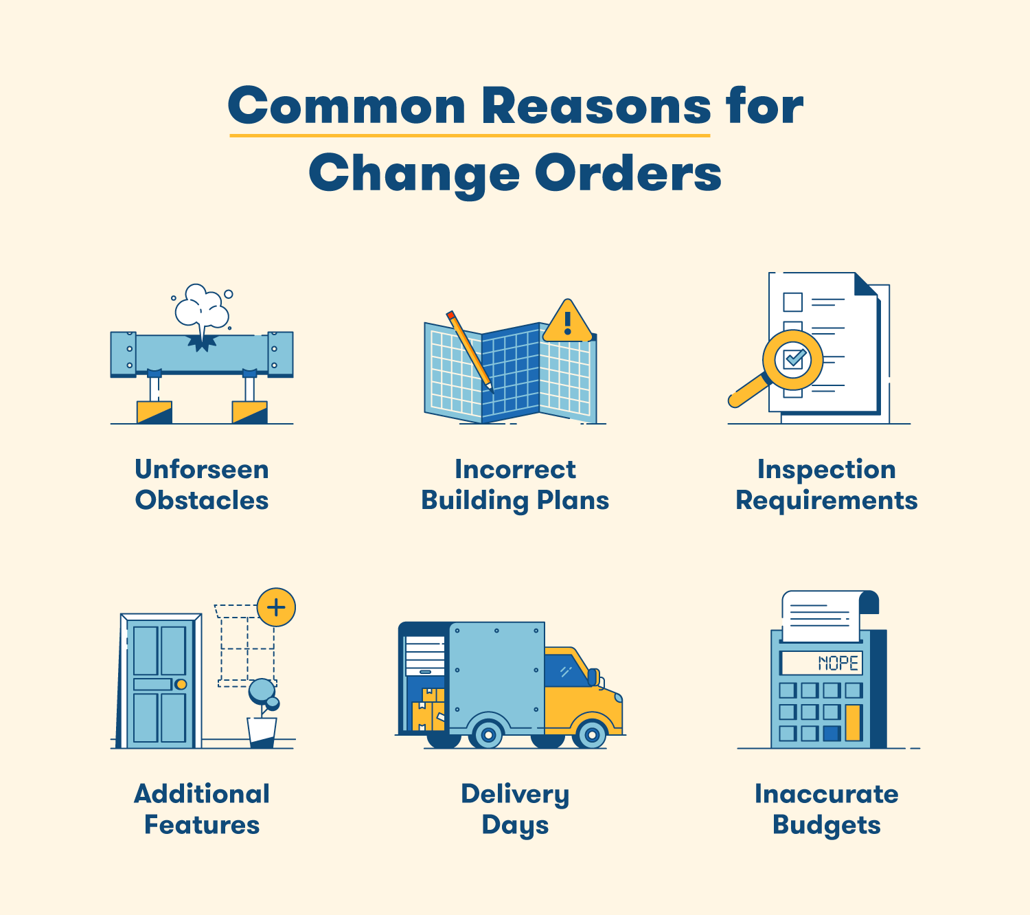 common reasons for change orders