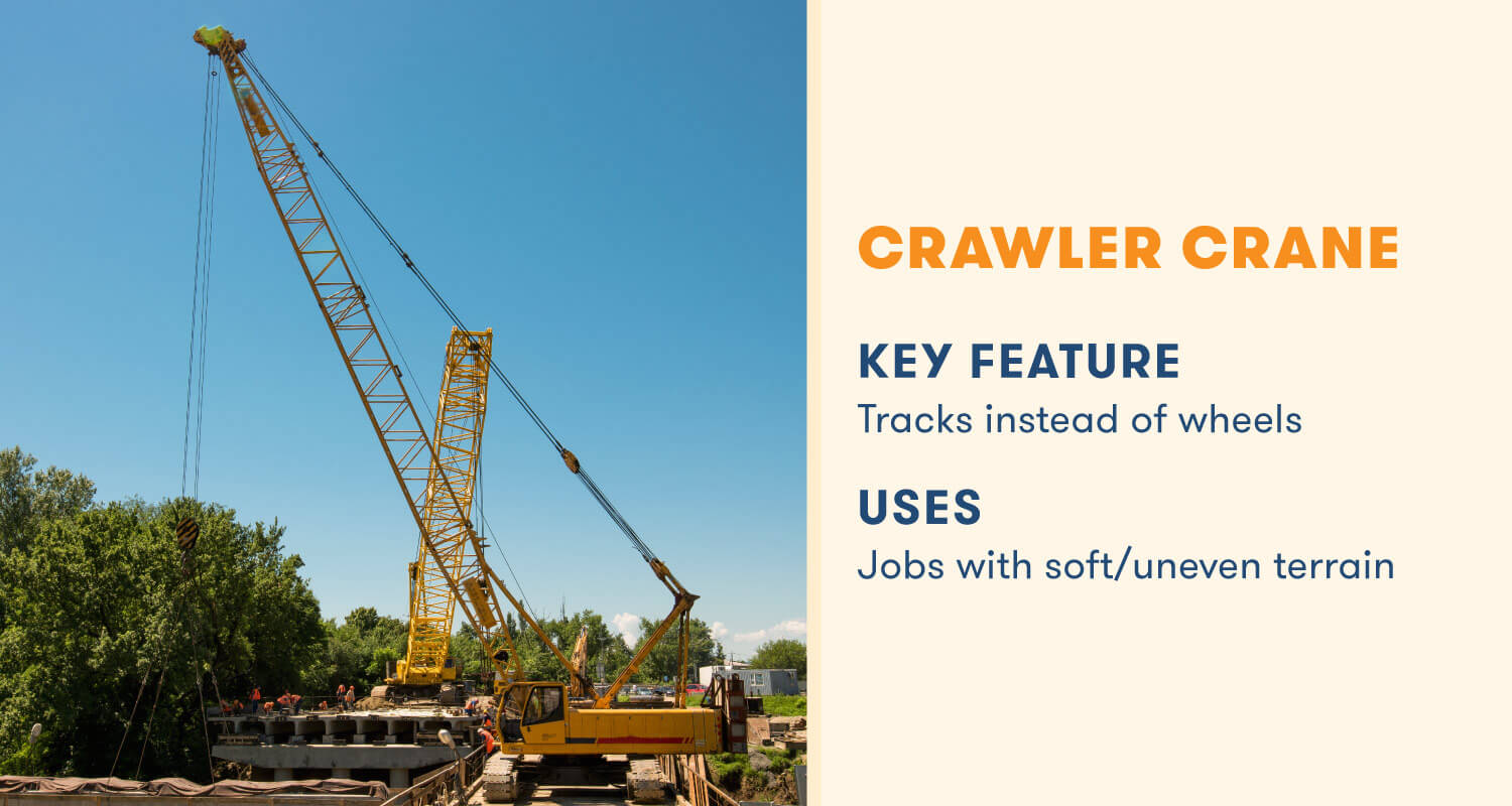 crawler crane key feature working on soft and uneven terrain