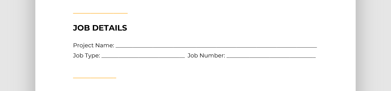 Screen cap of job details section of report