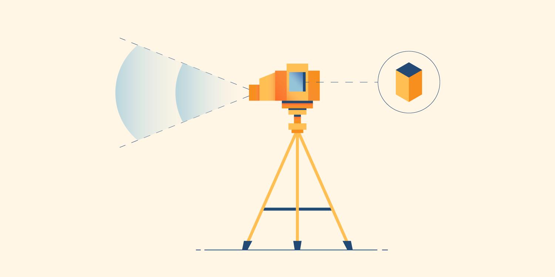 Illustration of a radar device