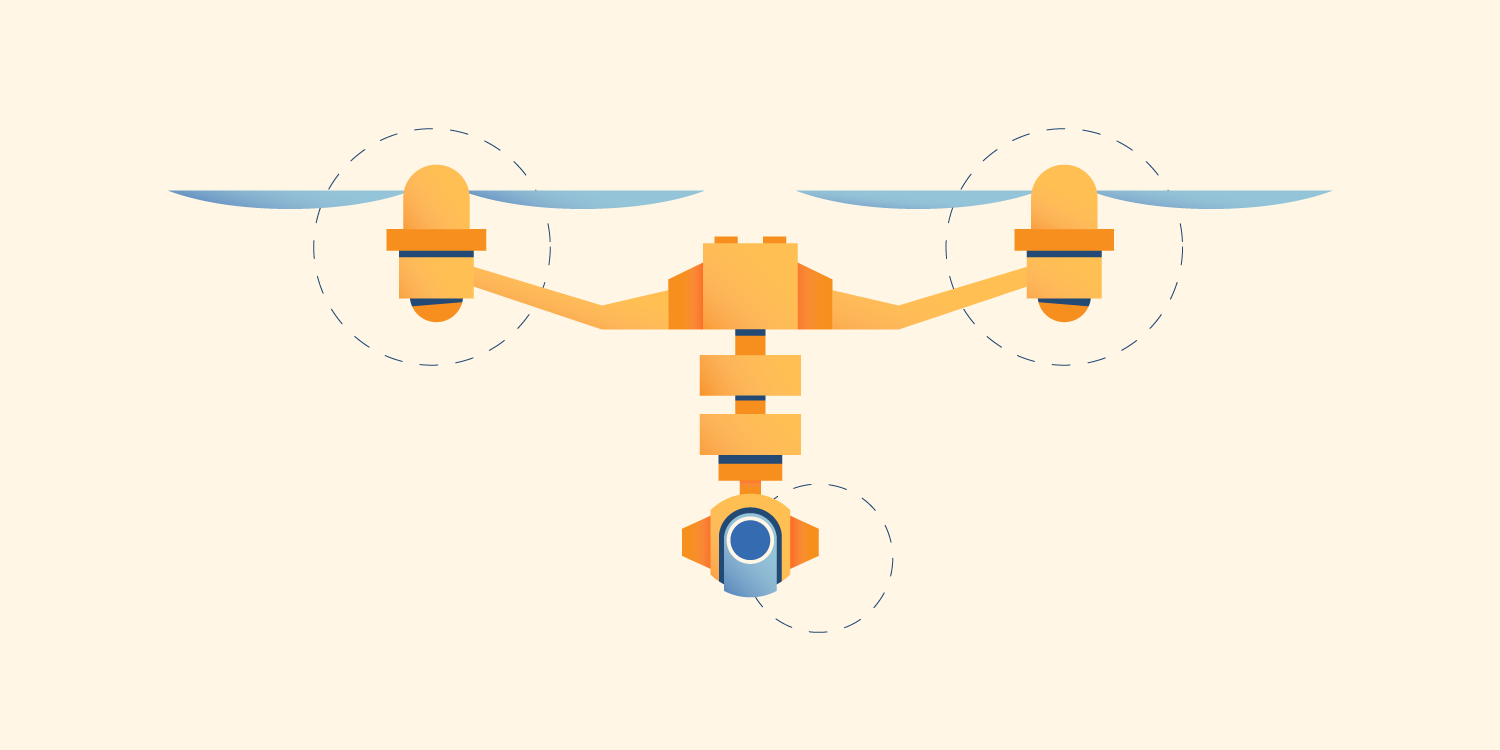 Illustration of a drone