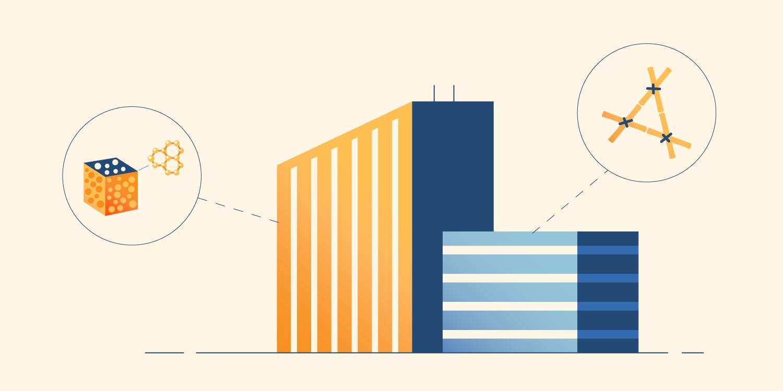 Illustration of building materials