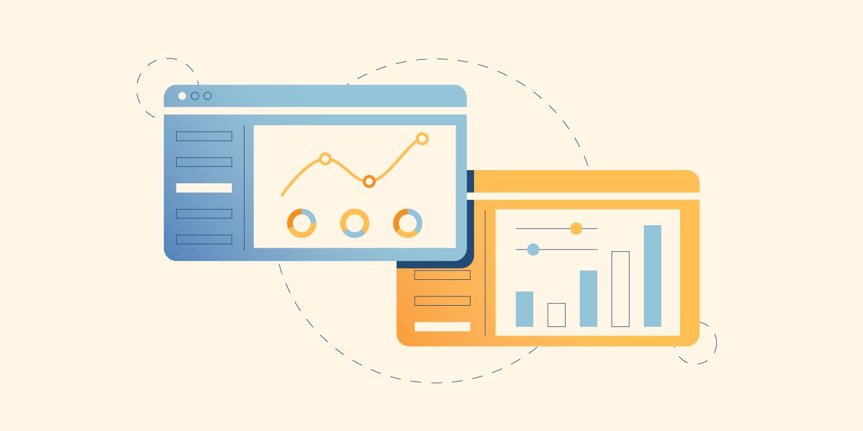 Illustration of analytics and data