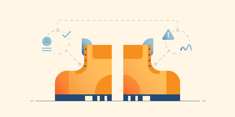 Illustration of smart boots