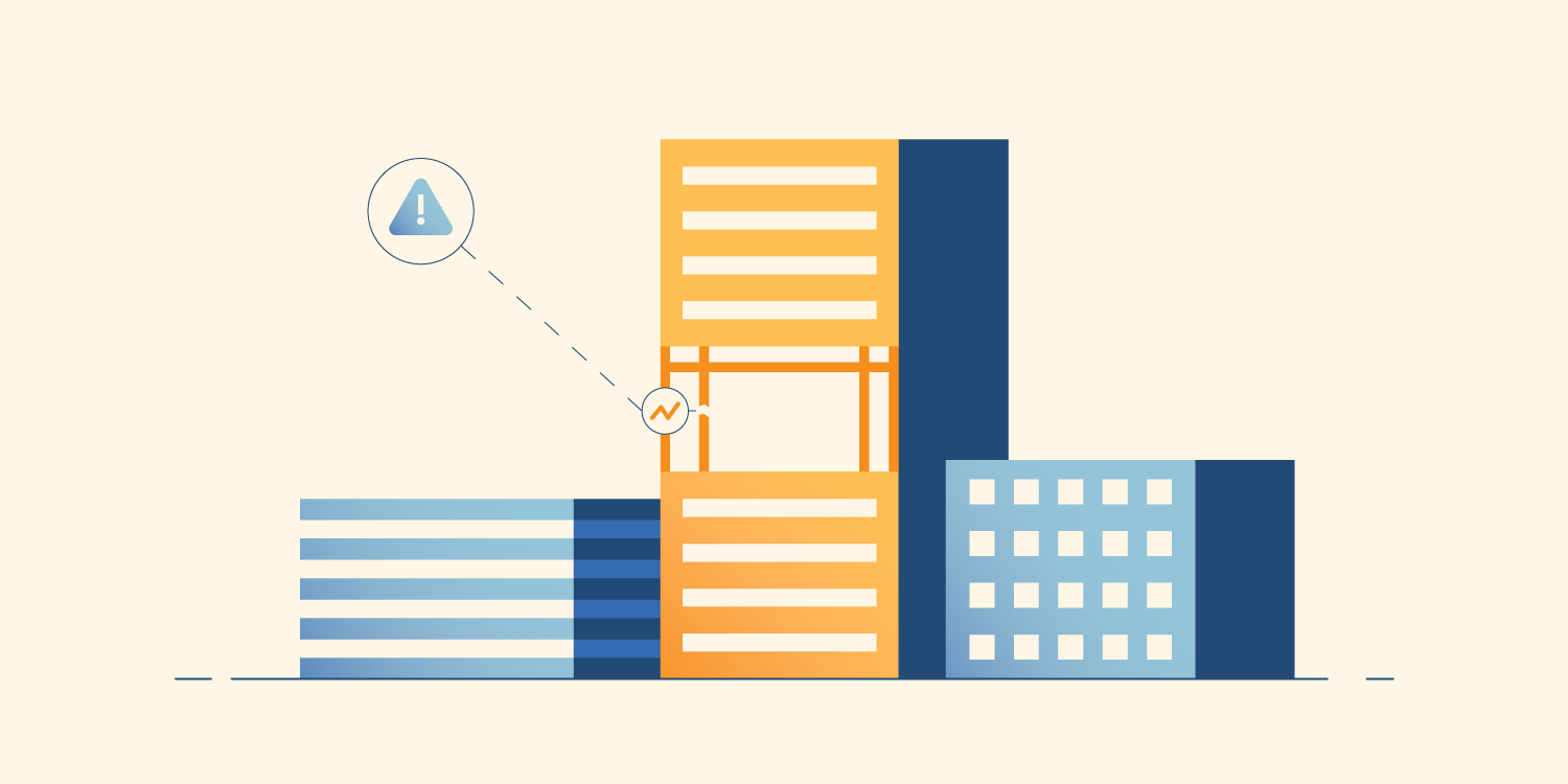 Illustration of smart buildings and infrastructure