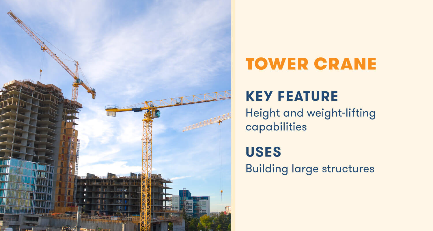 tower crane key feature height and weight lifting capabilities