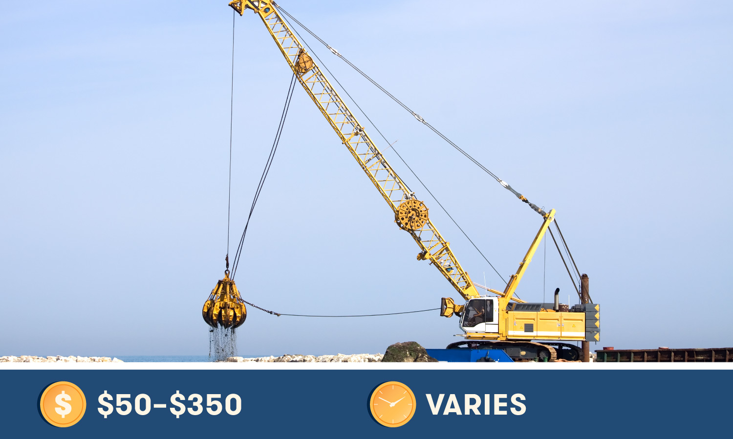 Crane Operation Certification costs $50-$350 and varies in time