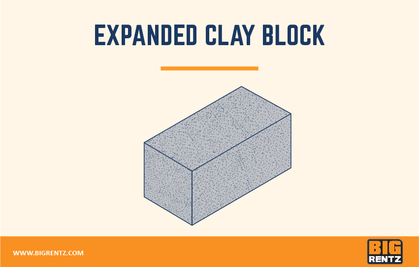 Expanded clay block
