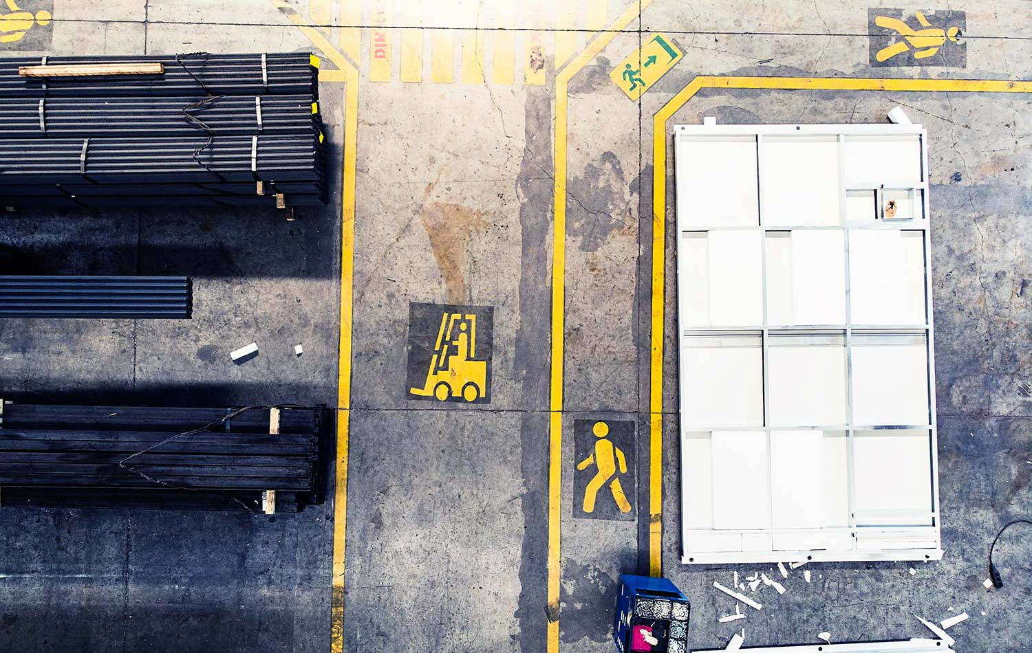 floor markings for construction safety