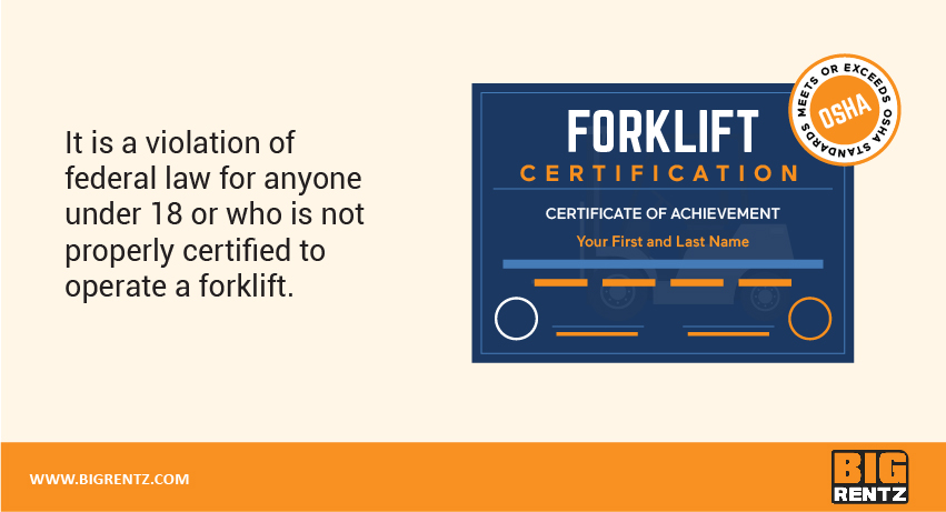 forklift training is required by OSHA