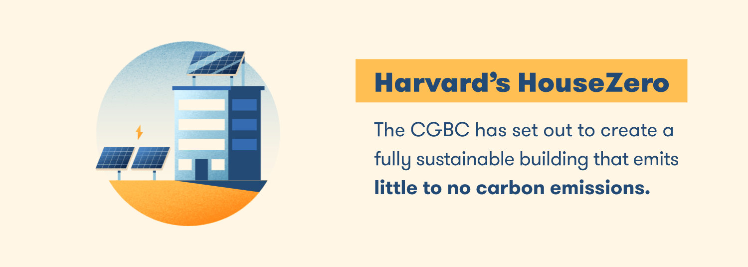 The CGBC has set out to create a fully sustainable building that emits little to no carbon emissions.