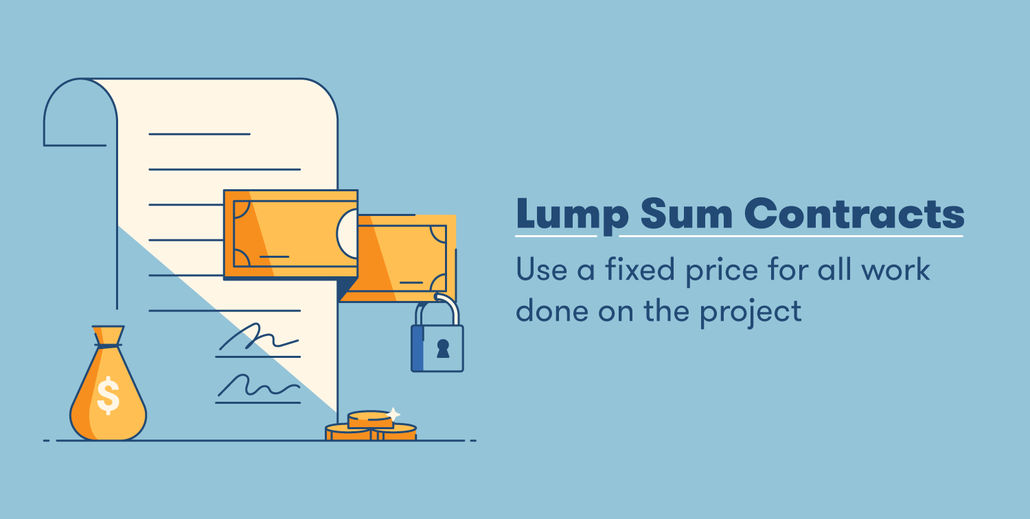 lump sum contracts use a fixed price for all work done on the project