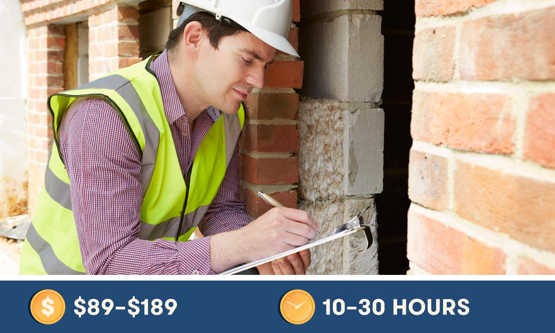 OSHA Training cost $89-$189 and 10-30 Hours