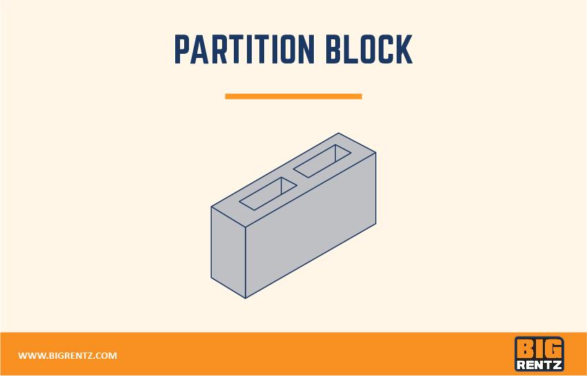 Partition block