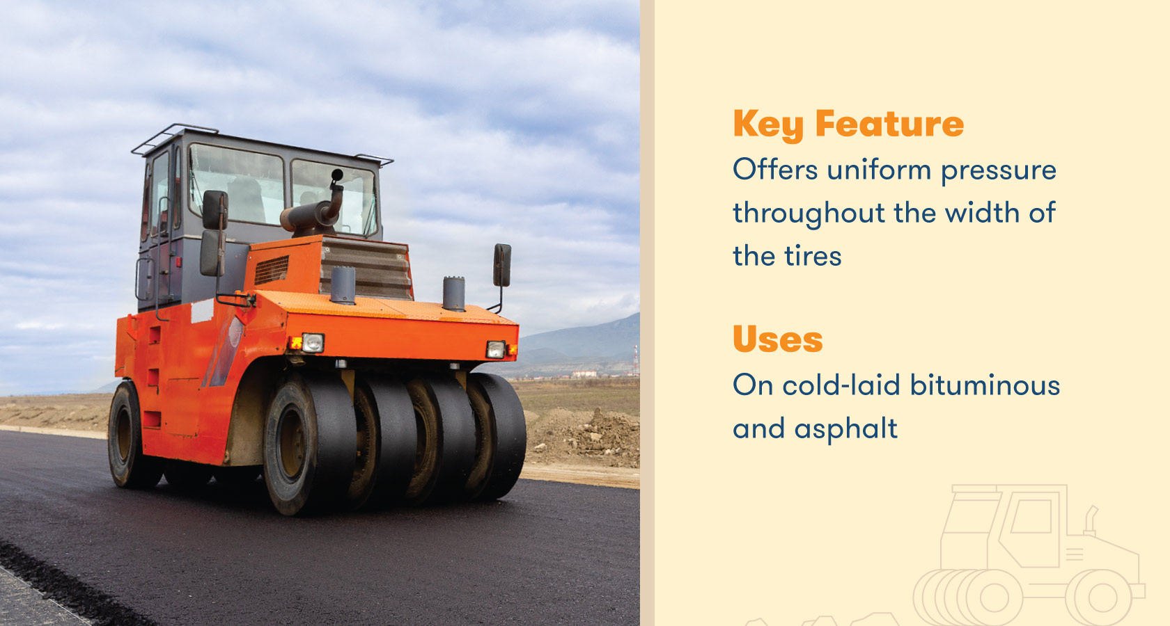 Offers uniform pressure throughout the width of the tires