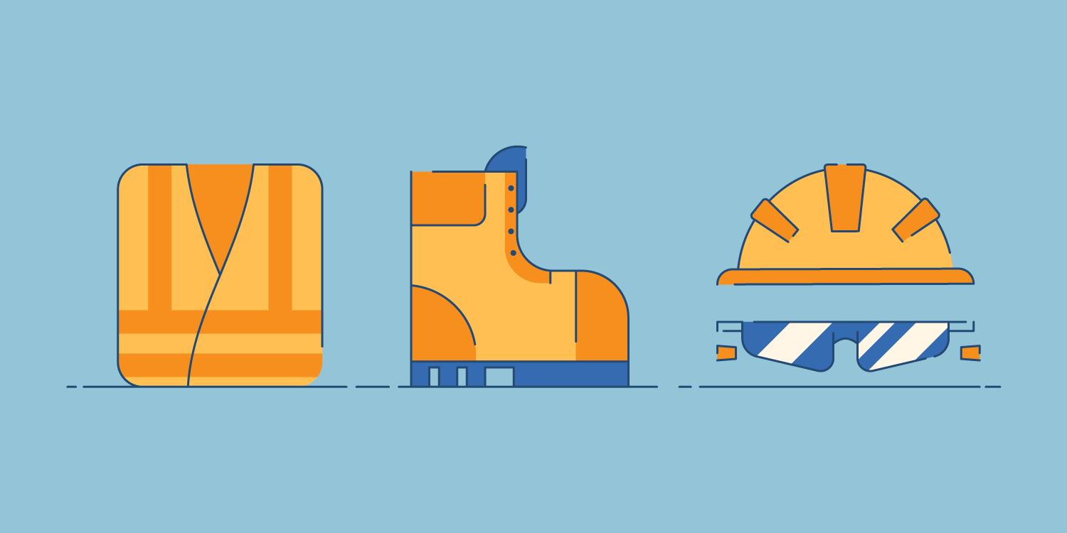 illustrations of common construction safety equipment